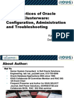 Best Practices Oracle Cluster Ware Session 355 Ppt