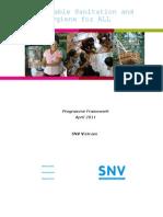 Sustainable Sanitation and Hygiene Programme Framework SNV Vietnam 2011