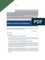 Best Practice News Alert No 183 - Employee v Contractor and GP Registrars