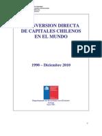 001_La inversión de capitales chilenos en el mundo 1990 - Diciembre 2010