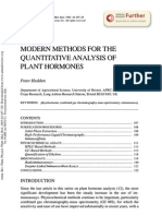 Modern Methods for the Quantitative Analysis of Plant Hormones