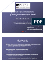 Analysts Recommendations 2005 (Por)