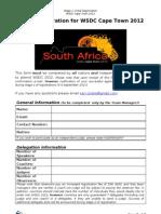 WSDC 2012 Registration Form 1