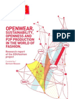 Openwear - SuStainability, OpenneSS and p2p prOductiOn in the WOrld Of FaShiOn