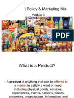 Product Policy & Marketing Mix