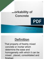 Lec 8 - Work Ability of Concrete