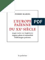 Mariel Pierre - Europe païenne du XXe siècle