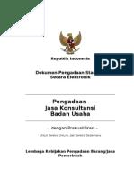 Sbd Eproc Jasa Konsultansi Badan Usaha Prakualifikasi Dua Sampul