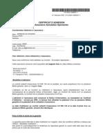 03001-0088567Certificat