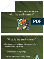 Horticulture and the Enviroment