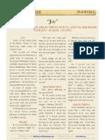 """Psalm 126 v3 - """"Joy"""""""
