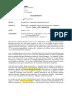 080911 Board of Supervisors - Dispensary Memo