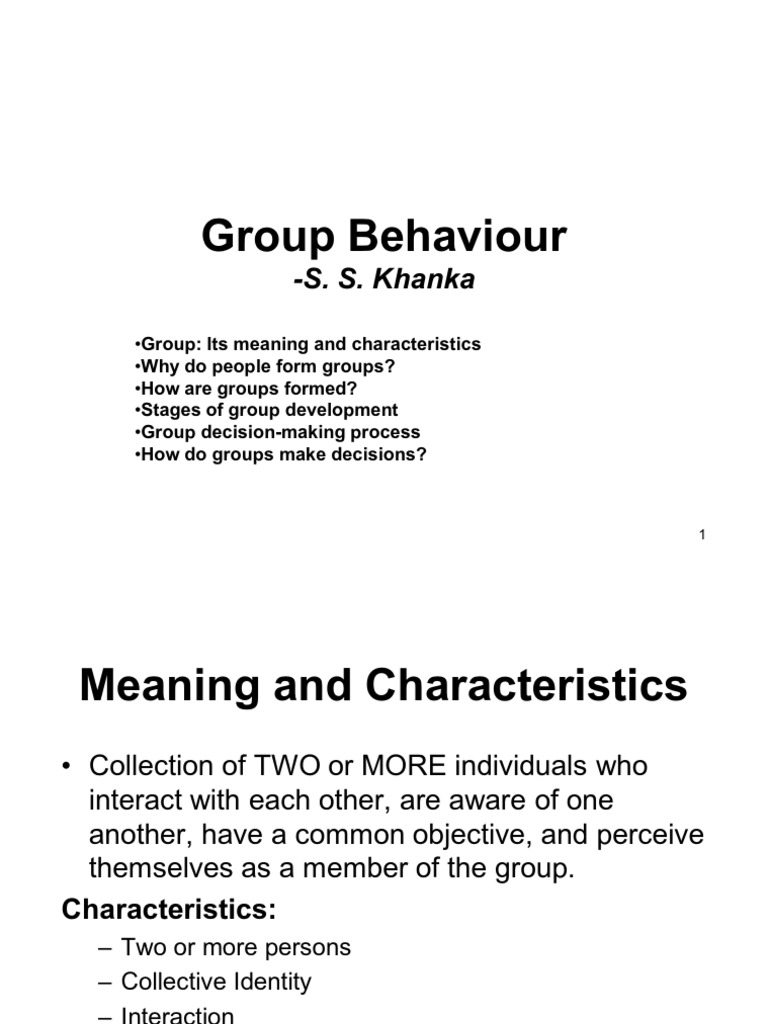 What is a group Meaning of a word and usage examples 93