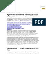 Agricultural Remote Sensing Basics