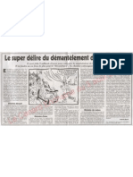 Le Canard Enchaine Le Super Delire Du Demantelement de Superphenix News 05-08-2011