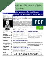 Professor Weissman's Algebra Classroom 01Whole Numbers