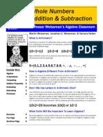 Professor Weissman's Algebra Classroom 02 Addition Subtraction Whole