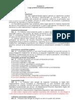 Proiect de Lege privind Statutul politistului cu propunerile CNP