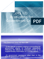 AS_12_Accounting for Government Grants Ppt