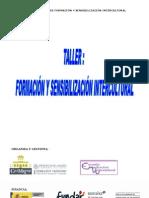 Programa del `Taller de formación y sensibilización intercultural´
