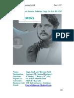 Internship Report Siemens Pakistan Engg