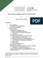 Jurkowska-Gomulka - Polish Antitrust Legislation and Case Law Review 2009