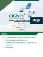 Alfresco Low Cost Secure Document Management