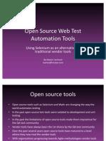 Open Source Web Test Automation Tools Selenium