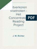 Uitverkoren Voetnoten - Het Concentrated Reading Project
