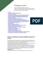 Constitución de Empresas en el Perú
