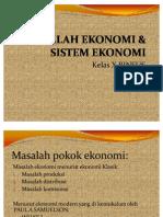 Masalah Dan Sistem Ekonomi