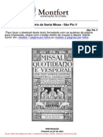 Ordinário Missa Tridentina