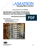 Water Desalination Solicitation