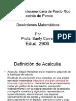 Presentacion Acalculia