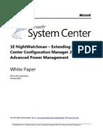 NightWatchman Enterprise Extending ConfigMgr 2007 R3 for Advanced Power Management
