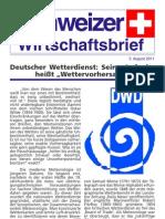 Schweizer Wirtschaftsbrief 8.2011