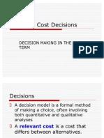 Relevant Costs 2007