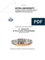 III Semester Ug - Admission on 2007