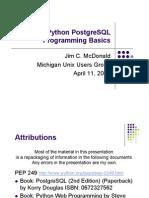 Python PostgreSQL Basics
