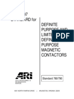 ARI Standard 780/790-1997, Definite Purpose and Limited Duty Definite Purpose Magnetic Contactors