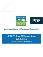 Off-Leash Areas Update - City of Vancouver