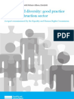 Equuality and Diversity Report Construction Sector