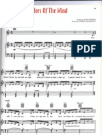 Colors of the Wind Piano Solo Sheet Music Pocahontas
