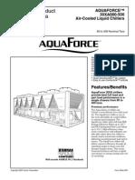 Aquaforce 30XA080-500 Air Cooled Chillers