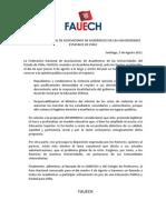 Declaracion FAUECH 05 de Agosto 2011
