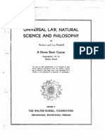 Walter Russell's Home Study Course - Unit 1 - Lessons 1,2,3,4