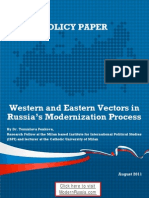 Western and Eastern Vectors in Russia's Modernization Process