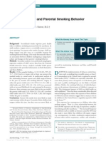 Pediatric Surgery and Parental Smoking Behavior.11