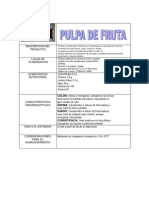 FICHA TÉCNICA DE MATERIAS PRIMAS