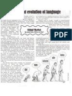 evoltion of language